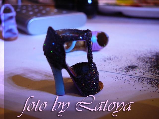 Výrobní postup - předělání botiček pro panenku